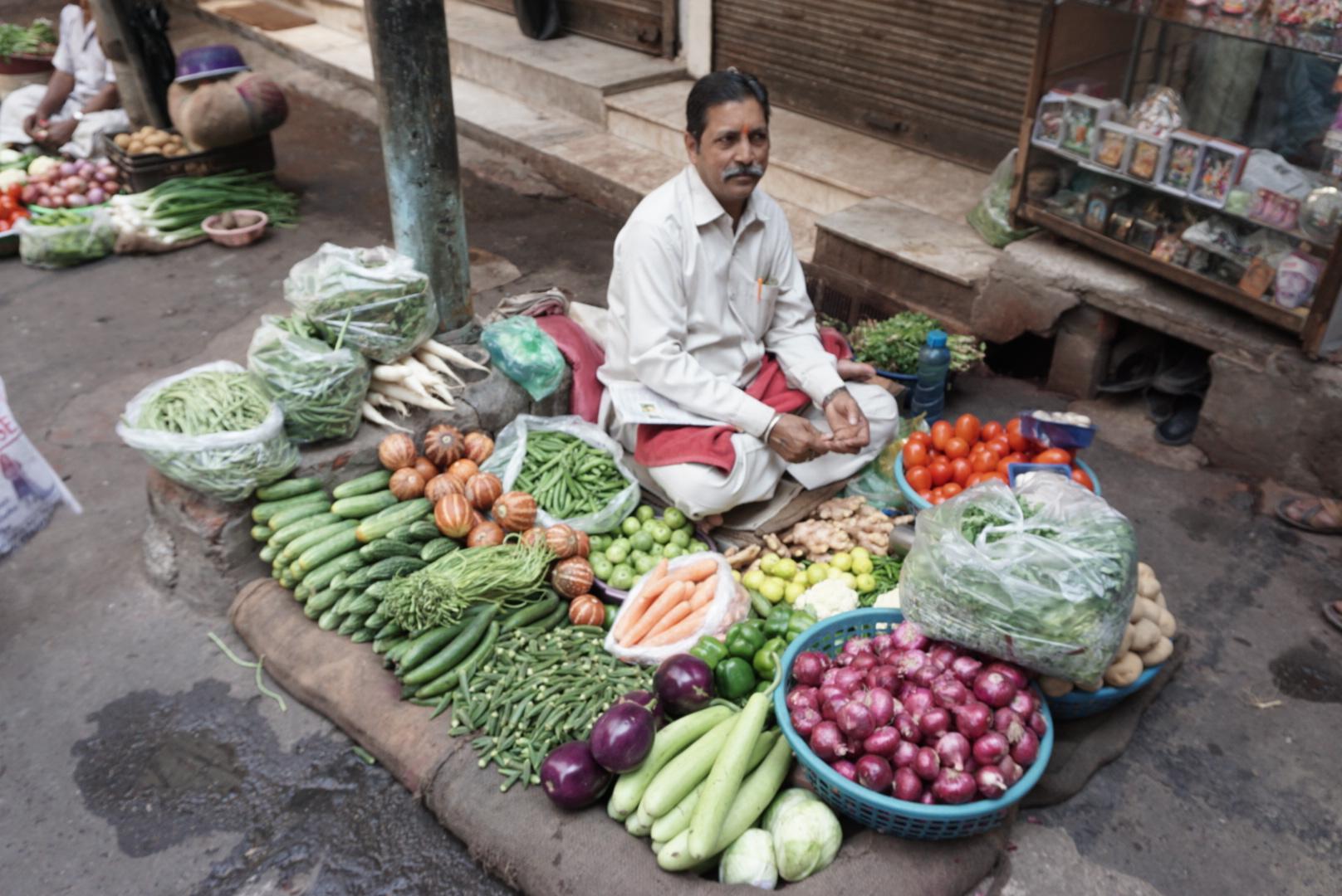 Gemüsehändler in Delhi