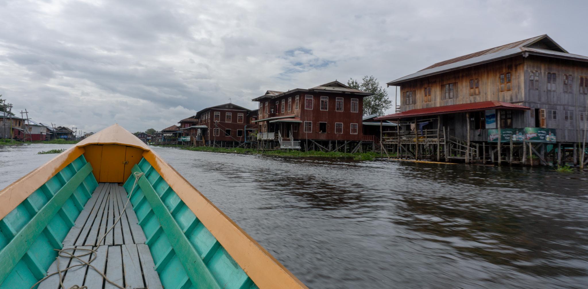 Mit dem Boot auf dem Inle-See