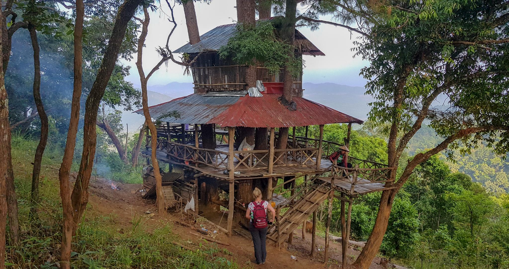 Baumhaus im Dschungel von Hsipas