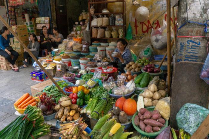 Dong Xuan Markt in Hanoi