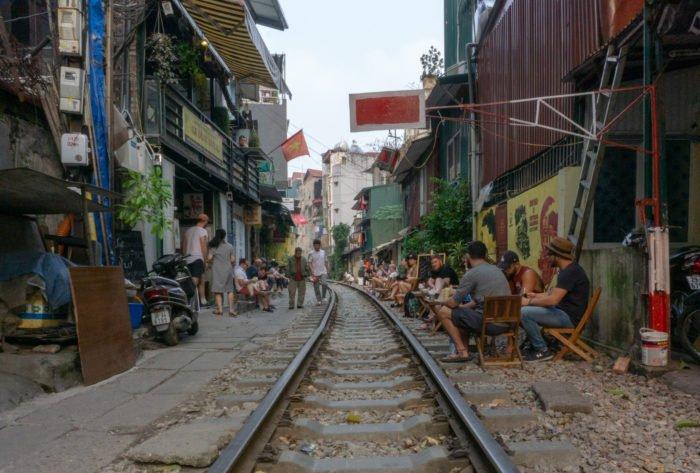 Schienenstraße in Hanoi