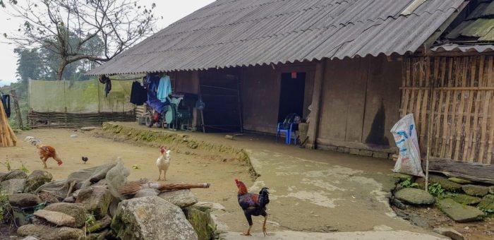 Hütte in einem Dorf bei Sapa