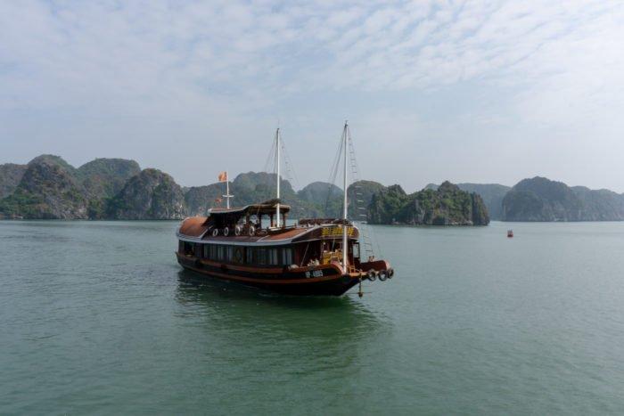 Boot in der Halong Bucht