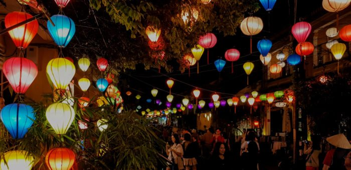 Leuchtende Lampions in Hoi An