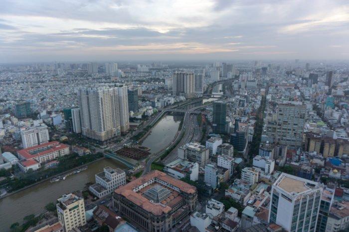 Aussicht auf Ho Chi Minh vom Skydeck