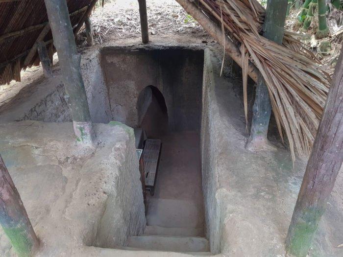 Tunnel aus dem Vietnamkrieg in Cu Chi