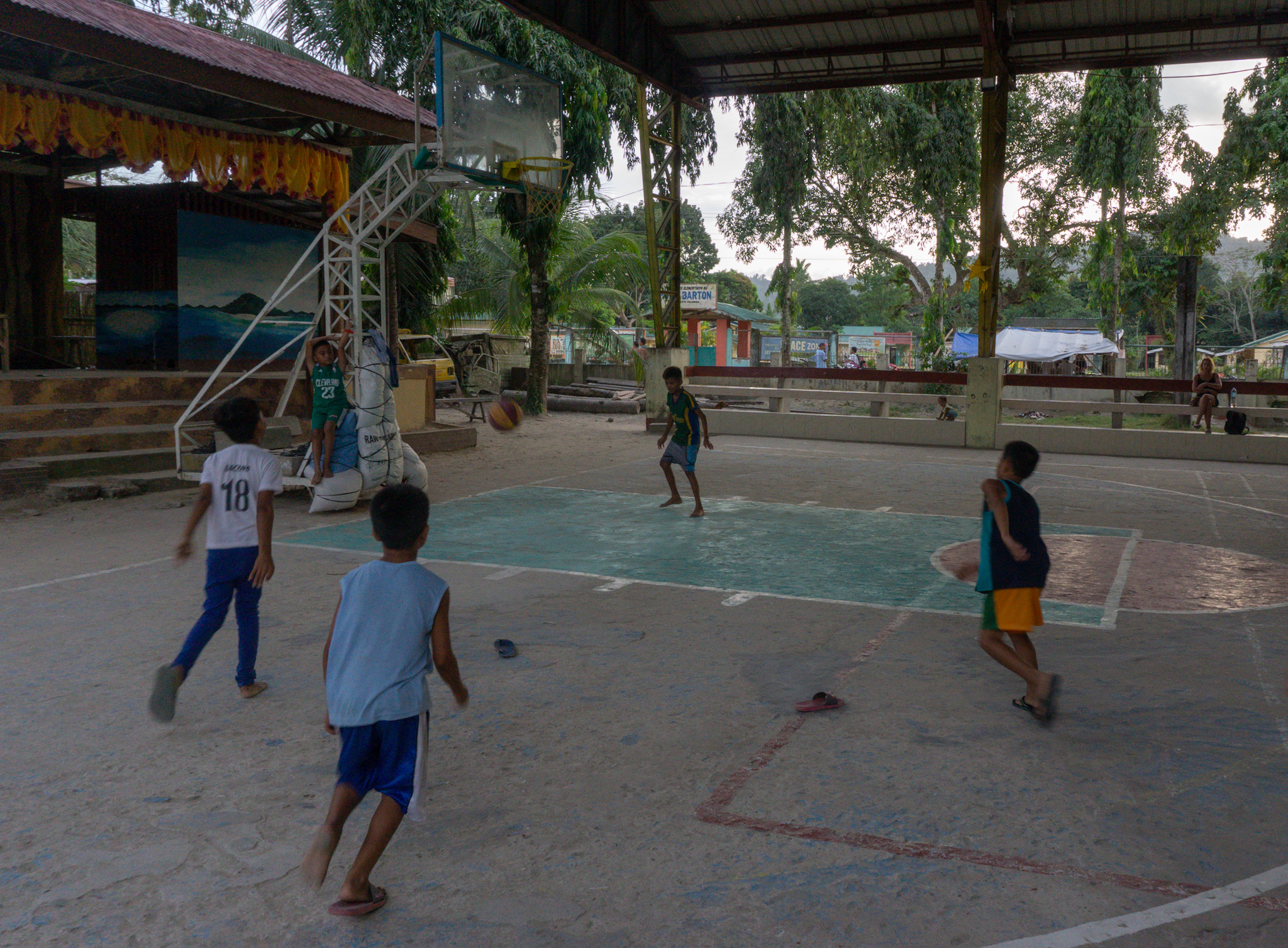 Basketball in Port Barton, Philippinen