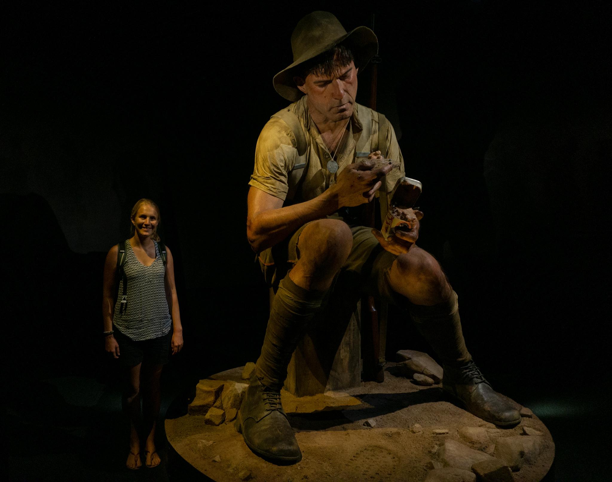 Übergroße Skulptur im Te Papa Museum, Wellington
