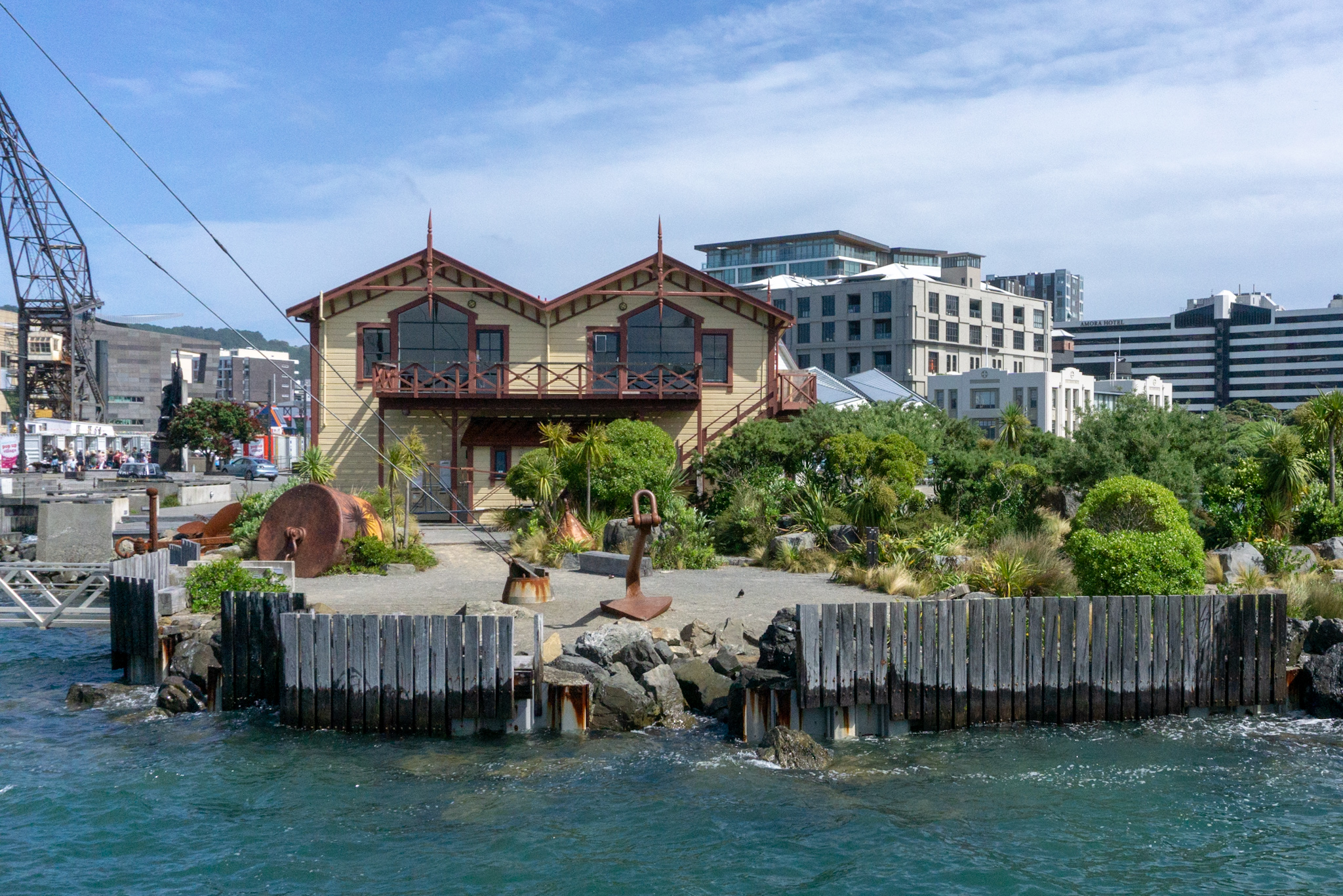 Spaziergang im Hafen von Wellington