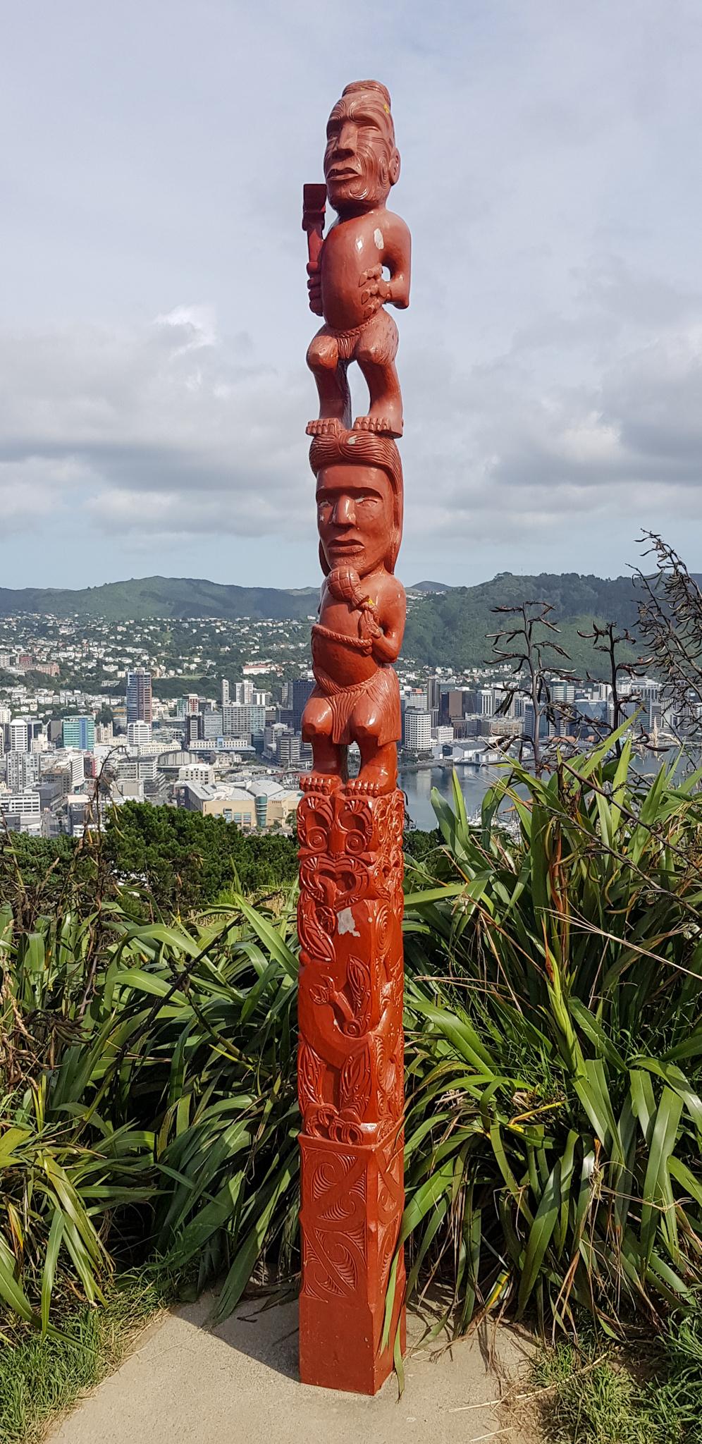 Skulptur am Mount Victoria Aussichtpunkt