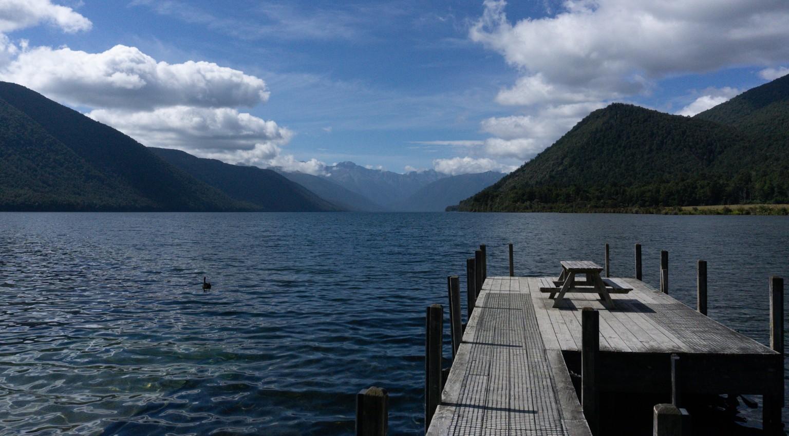 Lake Rotoroa auf der Südinsel in Neuseeland