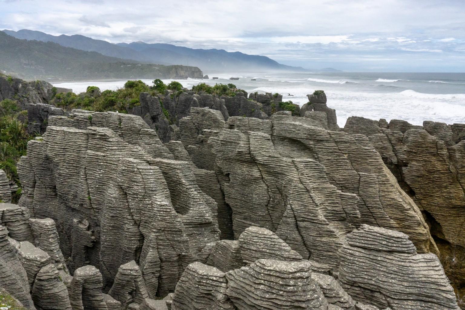 Pancake Rock auf der Südinsel in Neuseeland