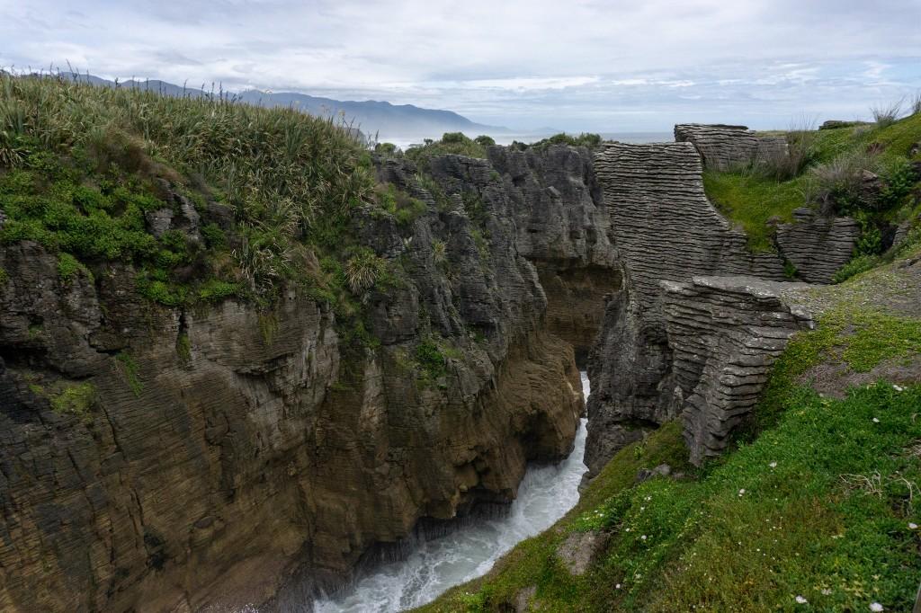 Pfannkuchen Felsen in Neuseeland