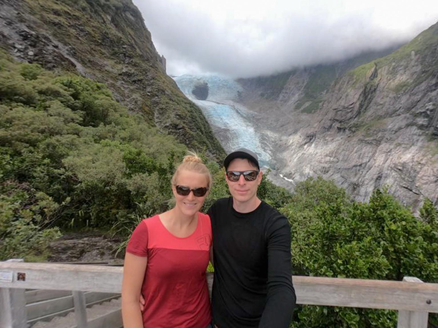 Blick auf den Franz Josef Gletscher vom Roberts Point