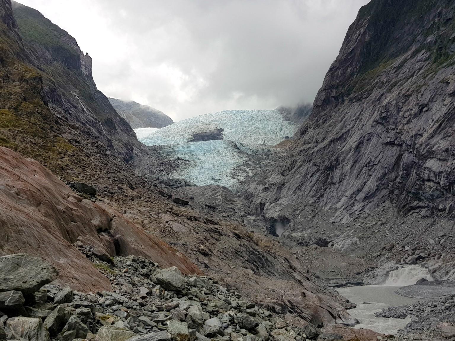 Franz Josef Gletscher auf dem Glacier Valley Walk