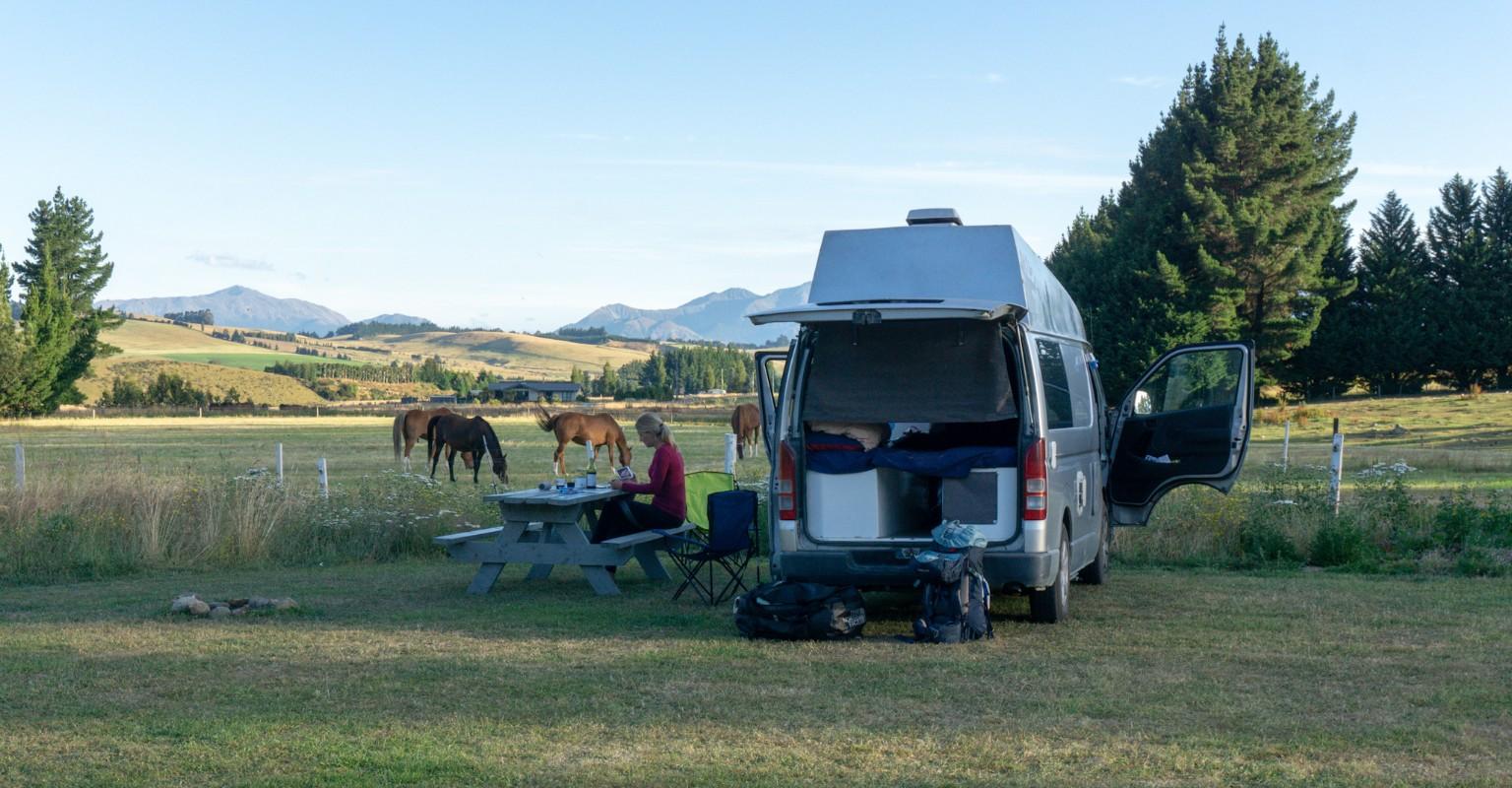 Camping Platz bei Te Anau