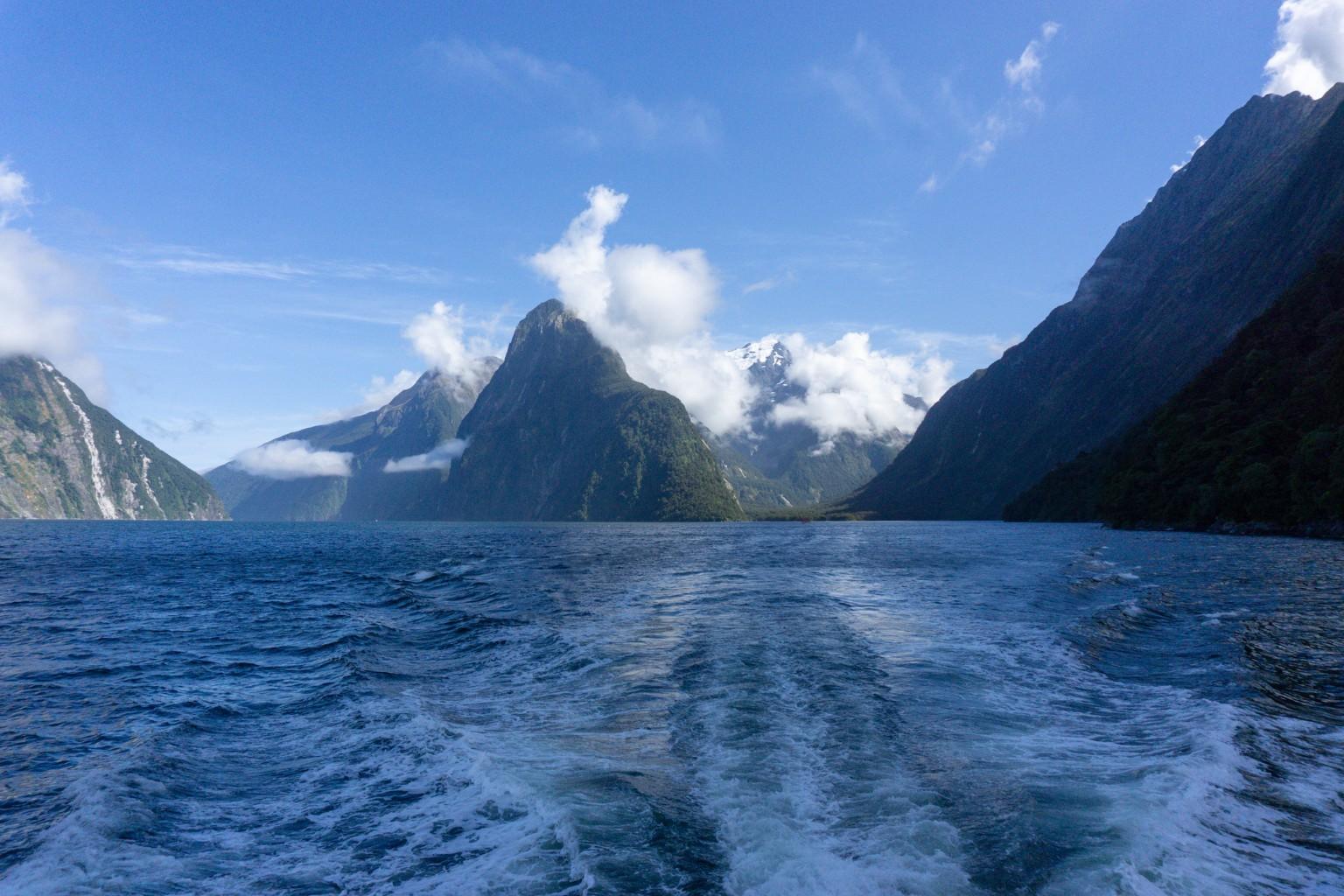 Fahrt durch den Milford Sound