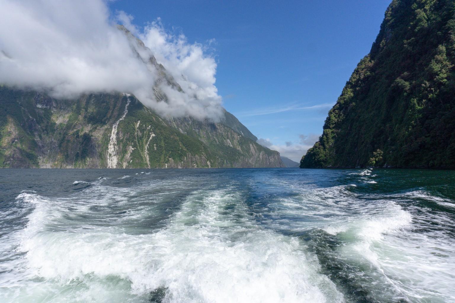 Schifffahrt im Milford Sound