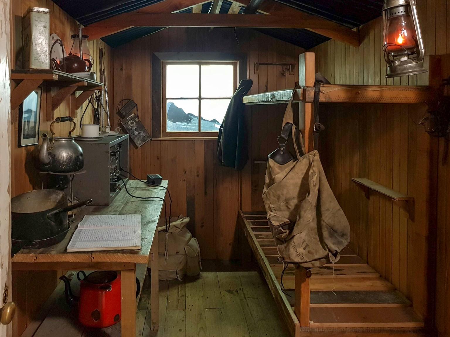 Nachgebaut Hütte im DOC Visitor Center im Aoraki Mount Cook Village