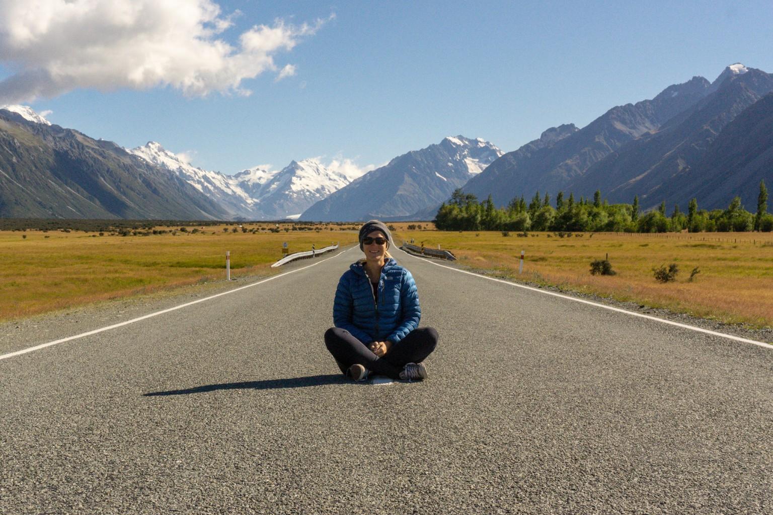 Straße zum Mount Cook Nationalpark
