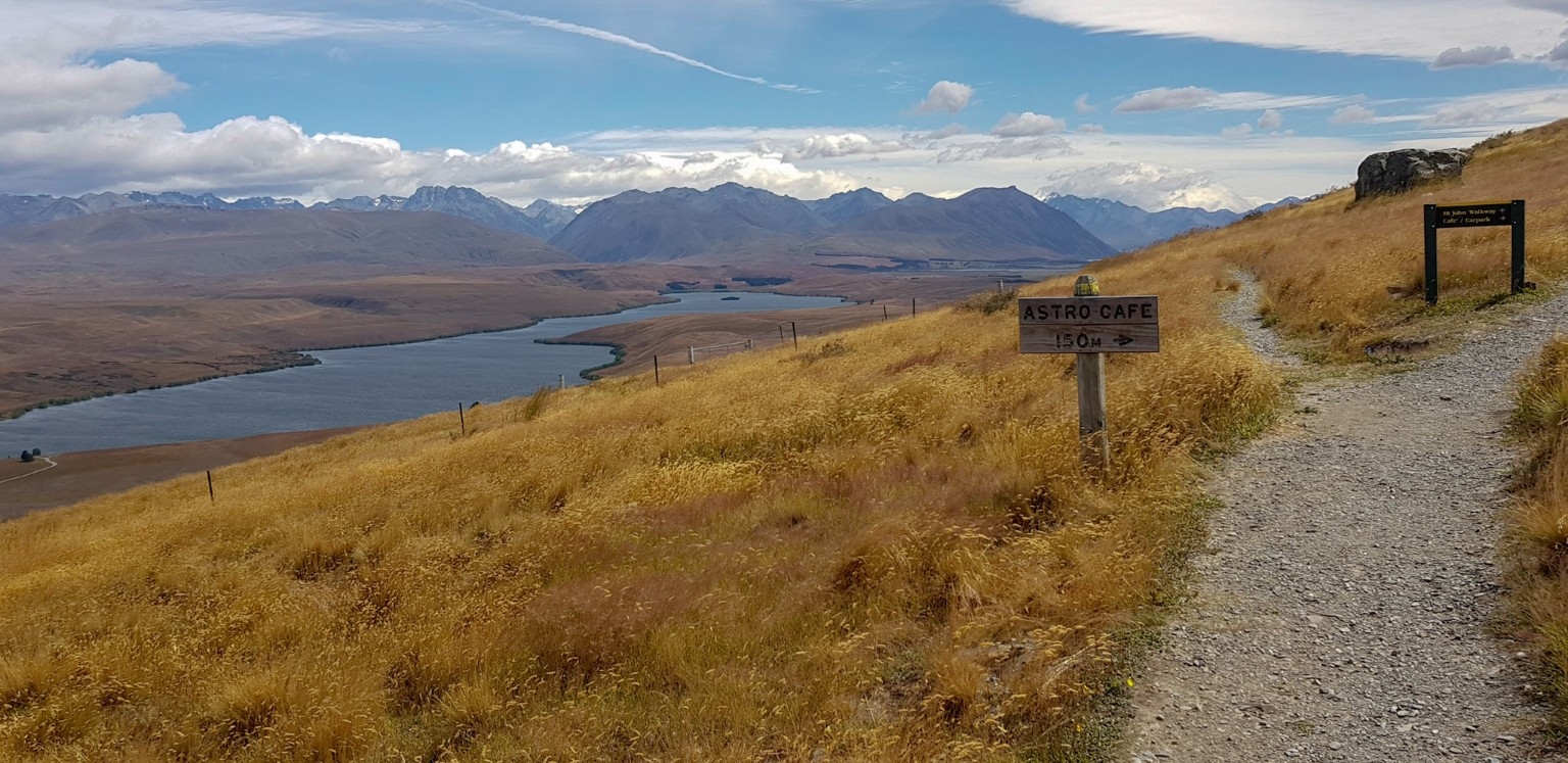 Weg auf den Mount John in Tekapo