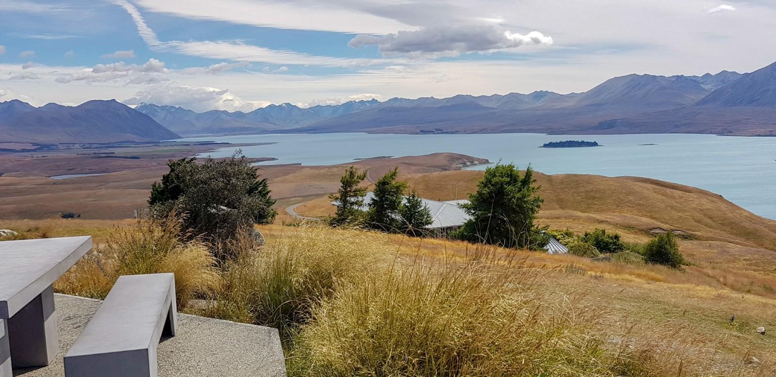 Aussicht auf dem Mount John am Lake Tekapo