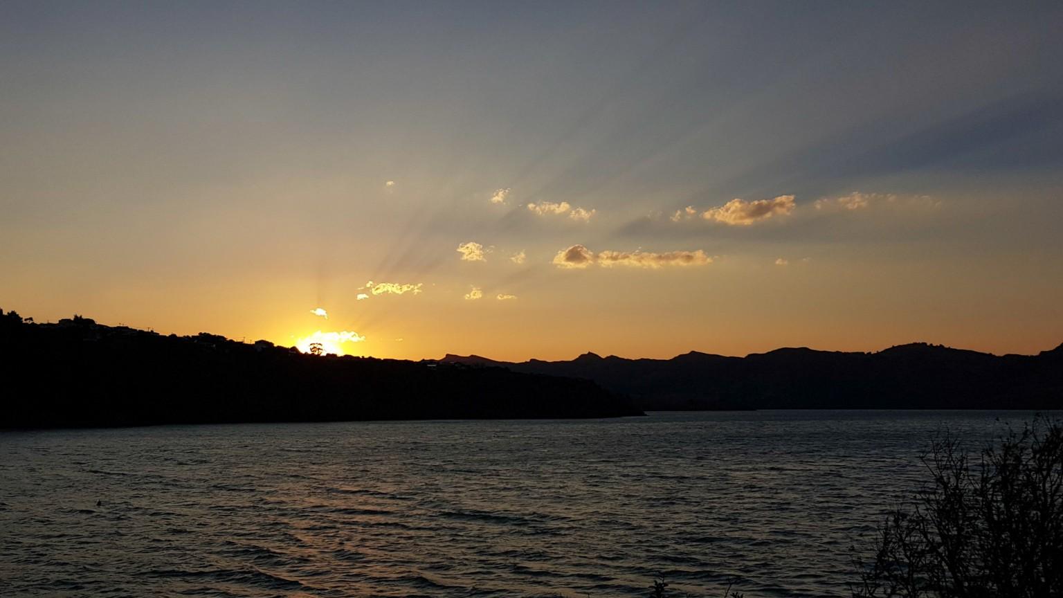 Sonnenuntergang Christchurch