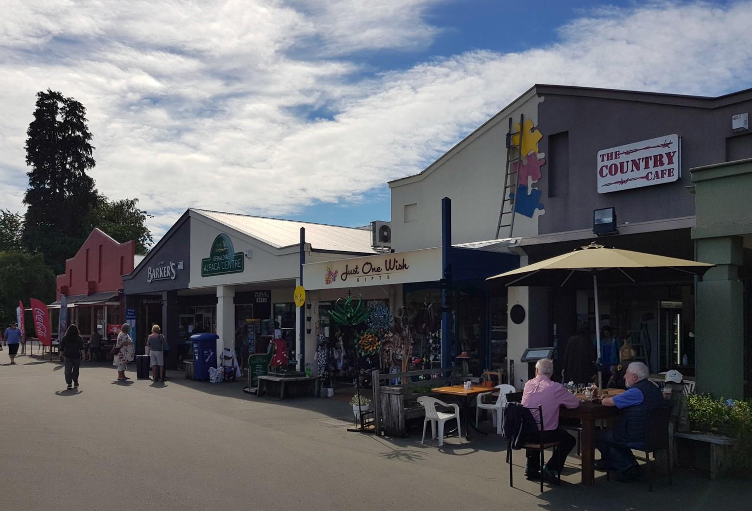 Einkaufen in Geraldine in Neuseeland
