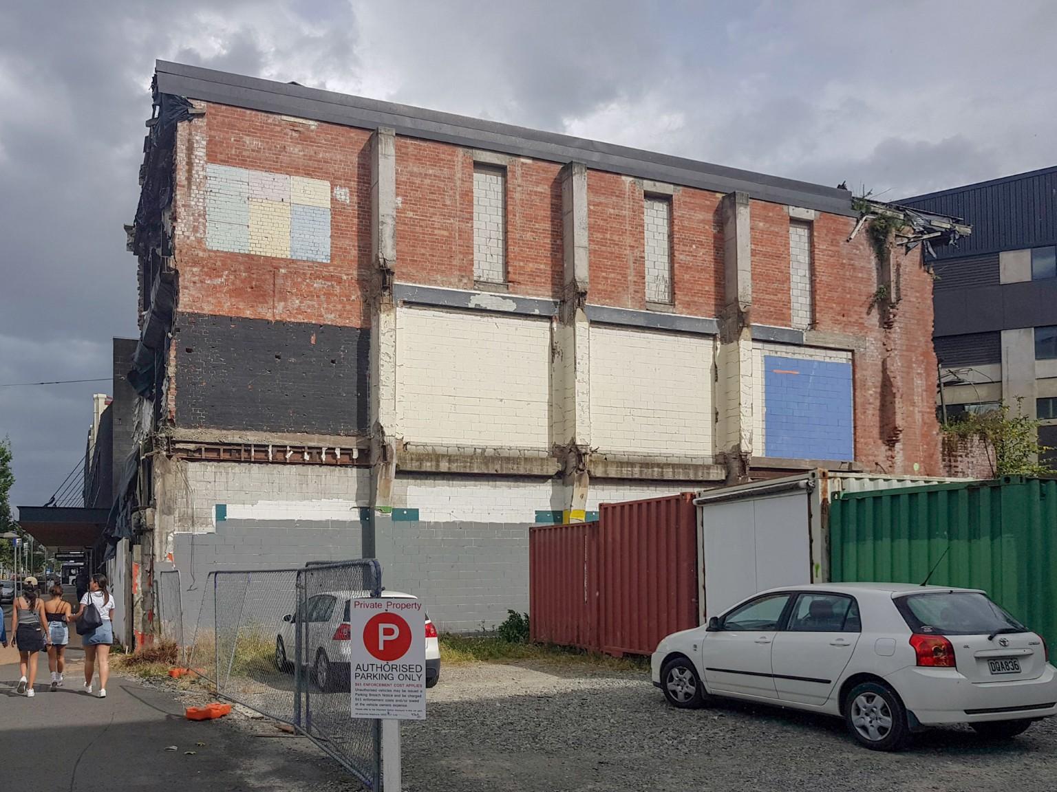 Beschädigte Häuser durch Erdbeben 2011 in Christchurch