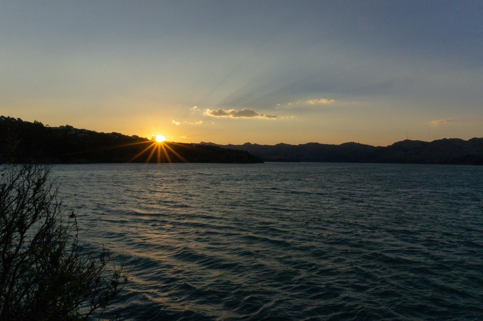 Sonnenuntergang Diamond Habour