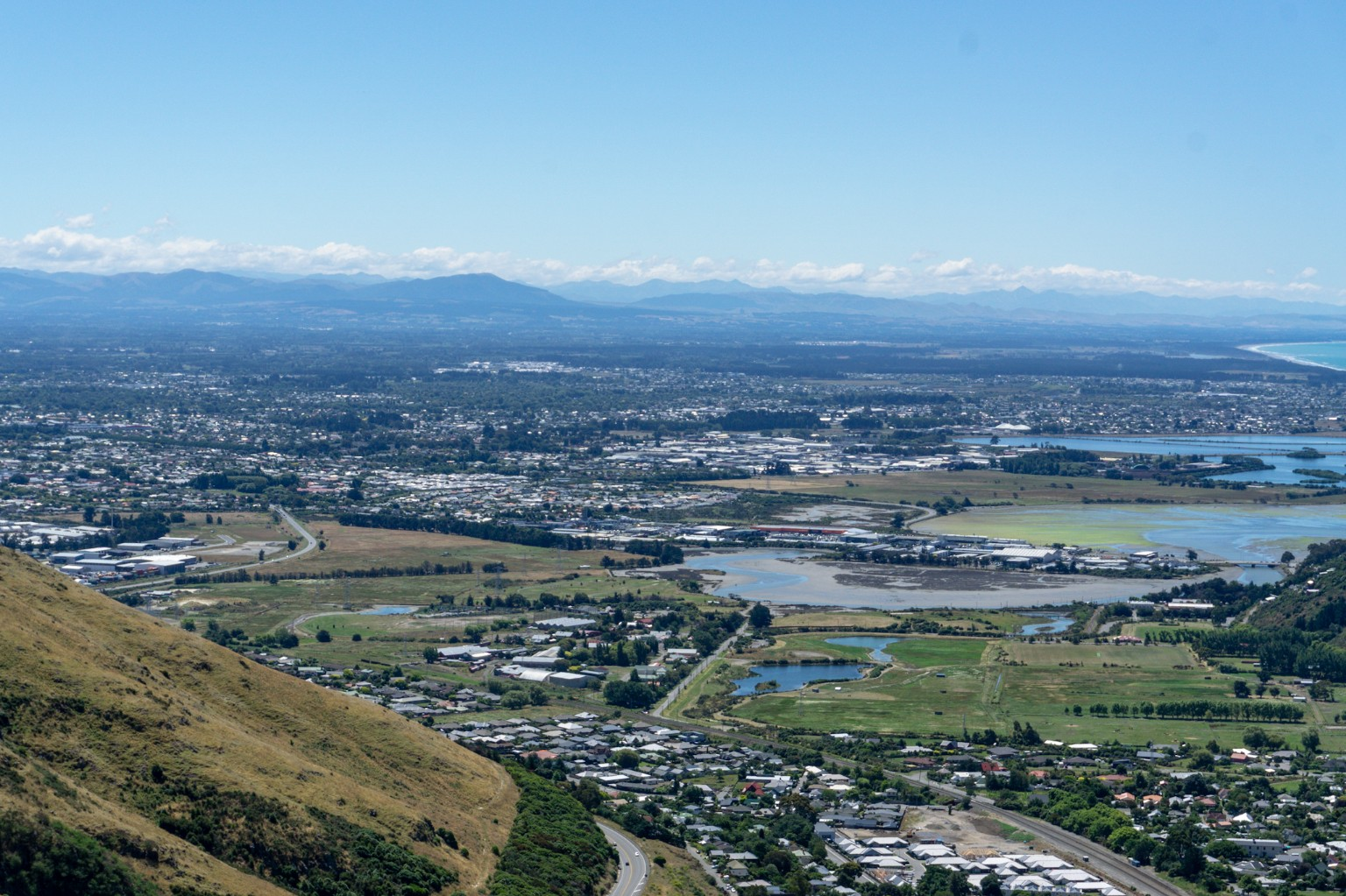Ausblick vom Bridle Path Walk in Christchurch